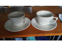 Set of two large Cups and saucers from IKEA