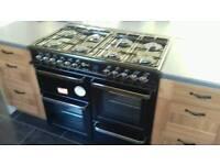 Range style 8 burner cooker & hood