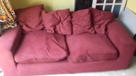 Red two seater sofa for Free