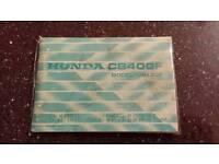 Honda cb400f owners manual