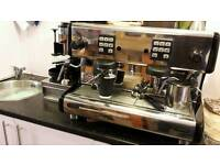 2 group la scala carmen coffee machine with grinder and knock out tray. Full service history.