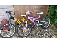 2 childrens bikes