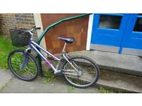 Ladies light weight bike with basket