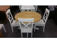 Davenport Round Pedestal Dining Table & 4 Chairs Can Deliver