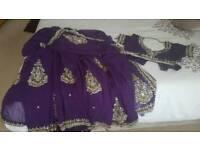 Gorgeous Purple saree. Chiffon material stone work saree