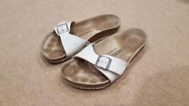 Birkenstocks Size 37 (UK4) in white leather