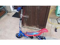 Kids pump action space scooter