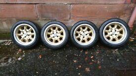 "Minilite 15"" 7j set of 4 alloys suit ford capri escort cortina"
