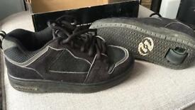 Black Heelys size 4 - excellent condition in box