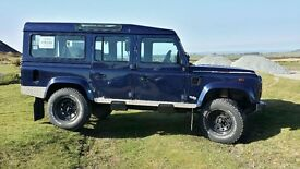 Land Rover Defender 110 TD5 County Station Wagon, 9 seats, MOT to April 2018, mechanically superb