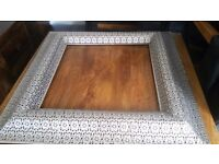 Large ornate metal picture frame wall hanging