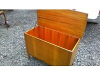 Large solid teak blanket box/toy box