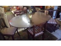Traditional mahogany dining table and four chairs REDUCED £45 CHEAP local DELIVERY Stalybridge SK15