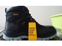 Mens DeWALT Water Proof Safety Steel Toe Lace Up Boots Size 9