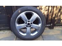 vauxhall mokka alloy wheel fitted continental tyre