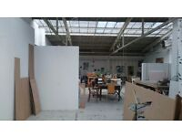 Artist/ Designer Studio Space Available in Shared Warehouse E1
