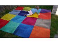 large square thick IKEA carpet idea for kids