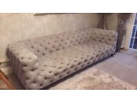 Grey Button Sofa
