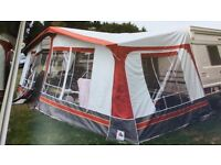Full Caravan Awning with Curtains