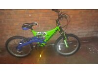 Boys kawasaki amx 20 bike with full suspension for sale