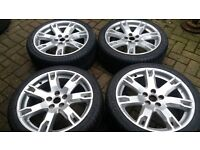 "18"" FORD FOCUS ST RS MONDEO TITANIUM TRANSIT CONNECT S MAX ALLOY WHEELS NEW TYRES"