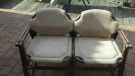 Vintage 2 seater loveseat bamboo frame great condition