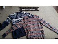Two large jack jones jumpers