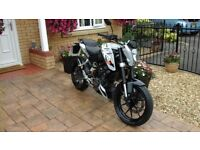 Ktm 125 duke 2012 new mot new back tyre just add service excellent condition one owner from new