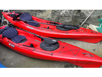 Kayak. Sea Fishing. 14ft long. Tootega sit on with accessories