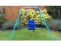 todler foldable swing blue -great condition