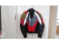Spyke Ladies Motorcycle Leather Jacket Size 50 in outstanding condition