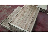 🌟 High Grade Waneylap Wood Fence Panels 8mm Boards