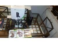 Microsoft Xbox 360 GO 250GB Matte Black Console +3 Top Games 1 CONTROLLER