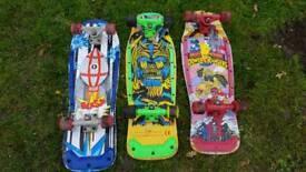 Retro vintage 90s skateboards power rangers ghostbusters