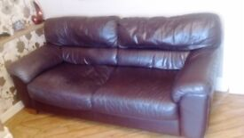 3 seater and 2 seater, leather ,chocolate brown , very good condition, buyer must collect