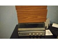 Vintage fidelity record player with sanyo vintage speakers
