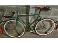 classic steel fixed Wheel Fixie bike