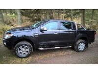Ford Ranger limited. 2.2, 2014 yr, metallic black, doudle cab.
