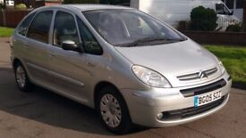 CITROEN XSARA PICASSO 2.0 HDI DIESEL 2005 (12 MONTHS MOT)(140K MILES)GREAT CONDITION