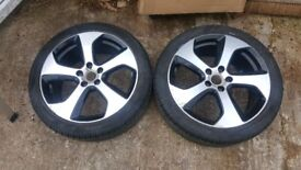Mk7 golf gti 18 inch alloy wheels x2