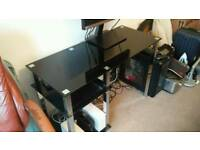 Black glass desk for quick sale