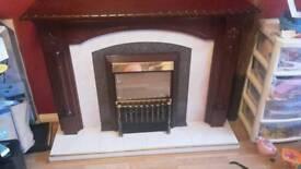 Mahogonay fireplace