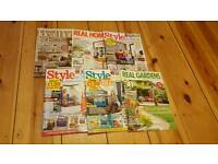 6 Home inspiration magazines excellent cond