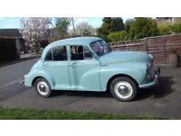 Morris Minor 1000 Blue 50 years old MOT March2018 Free tax