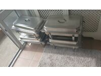 4 LARGE CHAFING DISHS