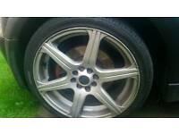 4 stud multi fit alloy wheels