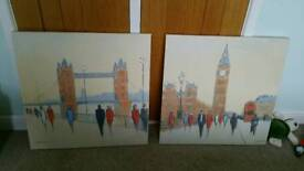 Pair of Wall Canvases