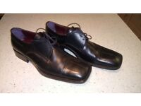 New Black Leather Italian Shoes - Good Quality Size 43 New
