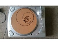 Ion Turntable/Record Player Deck, Free Graphic Slip Mat & Needle