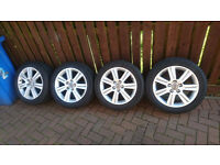genuine Audi vw sline alloy wheels 17 inch pcd 5x112